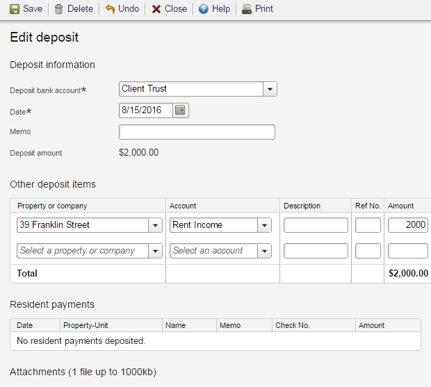 How do I print bank deposit slips through Buildium? – Buildium ...